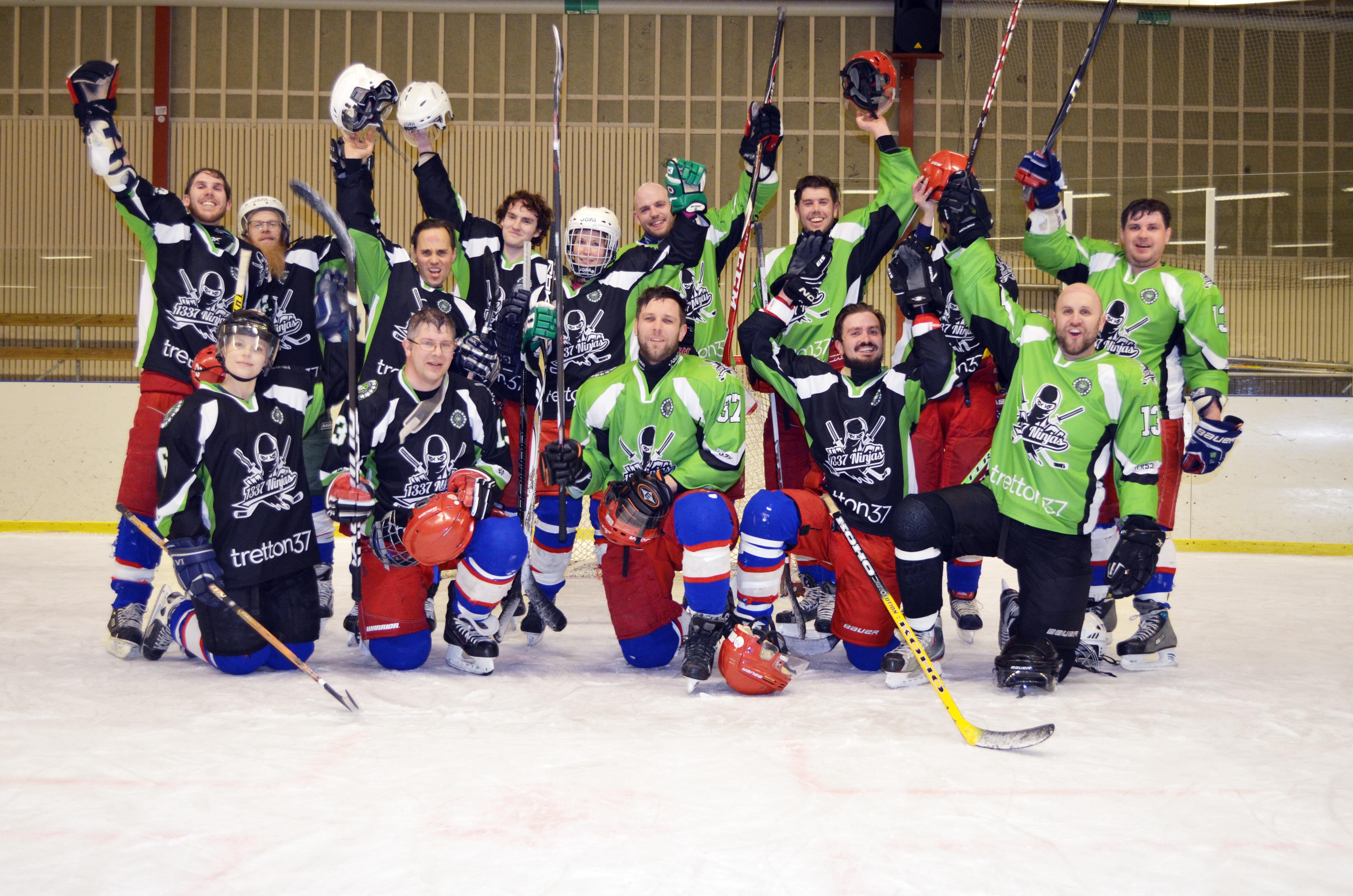 tretton37 hyr utrustning och provar hockey